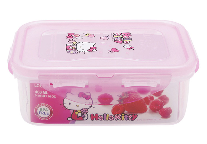 Hop-nhua-dung-thuc-an-Lock&Lock-Hello-Kitty-LKT818-(460ml)-hinh-chu-nhat